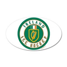 IE Ireland(Eire/Erin) Hockey 22x14 Oval Wall Peel