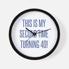 Unique 80 birthday men Wall Clock