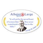 proud boast of women Sticker (Oval)