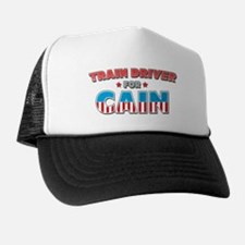 Train driver for Cain Trucker Hat