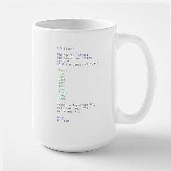 life code - Large Mug