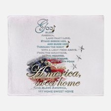God bless America: Throw Blanket