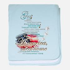 God bless America: baby blanket