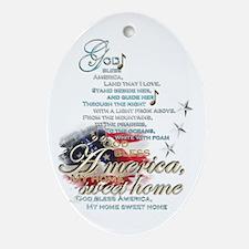 God bless America: Ornament (Oval)