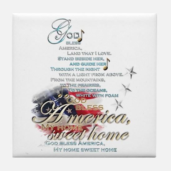 God bless America: Tile Coaster
