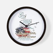 God bless America: Wall Clock