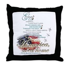 God bless America: Throw Pillow