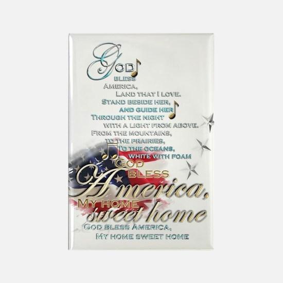 God bless America: Rectangle Magnet