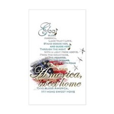 God bless America: Decal