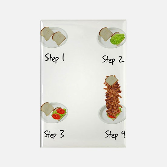 Bacon Bacon BLT Rectangle Magnet