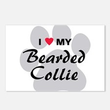 I Love My Bearded Collie Postcards (Package of 8)