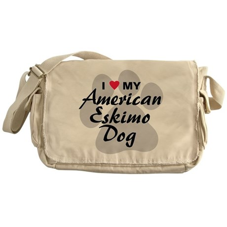 American Eskimo Dog Messenger Bag