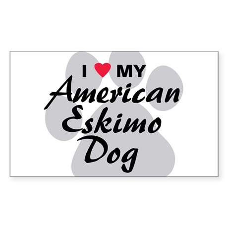 American Eskimo Dog Sticker (Rectangle)