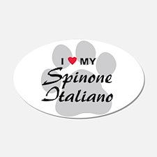 I Love My Spinone Italiano 22x14 Oval Wall Peel