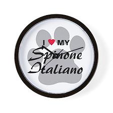 I Love My Spinone Italiano Wall Clock