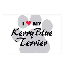 I Love My Kerry Blue Terrier Postcards (Package of