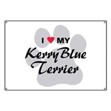 I Love My Kerry Blue Terrier Banner