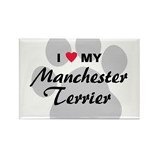 Love My Manchester Terrier Rectangle Magnet