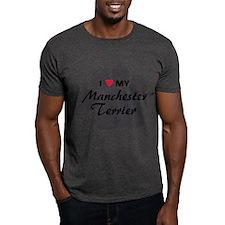 Love My Manchester Terrier T-Shirt