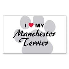 Love My Manchester Terrier Decal