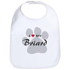 I Love My Briard Bib