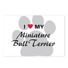 I Love My Mini Bull Terrier Postcards (Package of