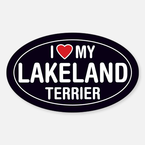 I Love My Lakeland Terrier Oval Sticker/Decal