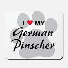 I Love My German Pinscher Mousepad