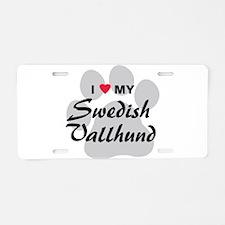 Love My Swedish Vallhund Aluminum License Plate
