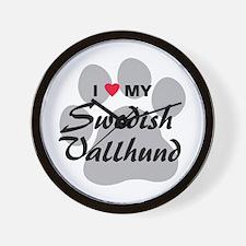 Love My Swedish Vallhund Wall Clock