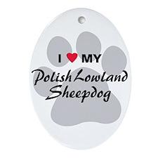 Polish Lowland Sheepdog Ornament (Oval)