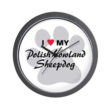 Polish Lowland Sheepdog Wall Clock