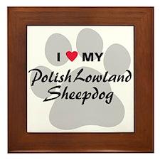 Polish Lowland Sheepdog Framed Tile
