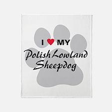 Polish Lowland Sheepdog Throw Blanket