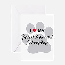 Polish Lowland Sheepdog Greeting Card