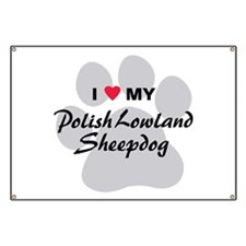 Polish Lowland Sheepdog Banner