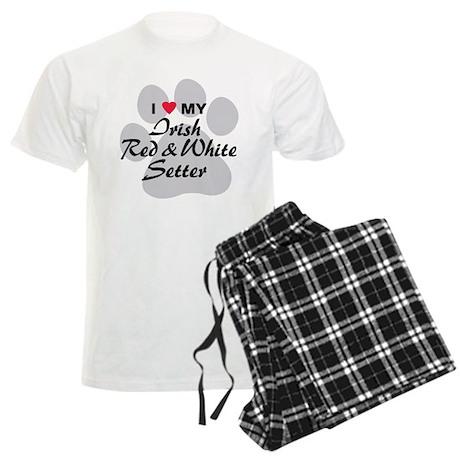 Irish Red & White Setter Men's Light Pajamas