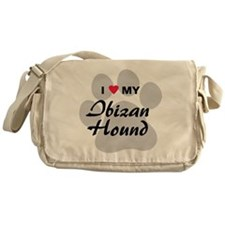 I Love My Ibizan Hound Messenger Bag