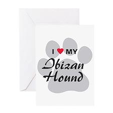 I Love My Ibizan Hound Greeting Card