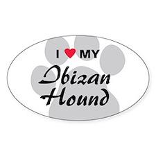 I Love My Ibizan Hound Decal
