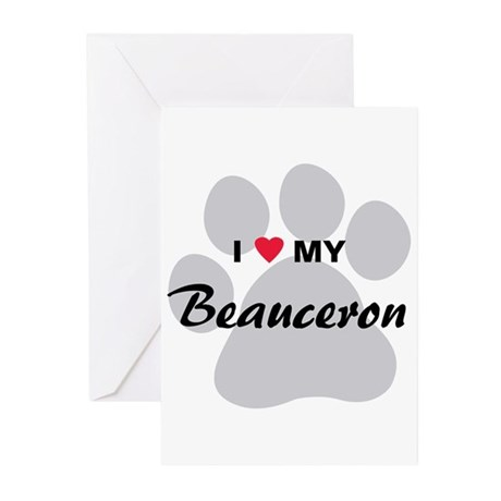 I Love My Beauceron Greeting Cards (Pk of 20)