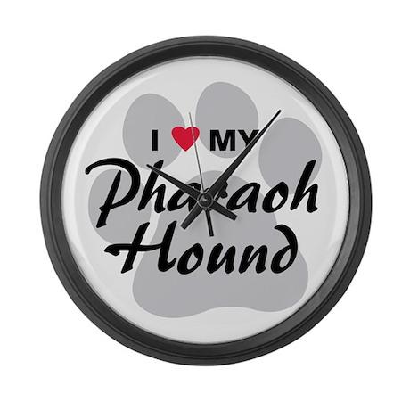 I Love My Pharaoh Hound Large Wall Clock