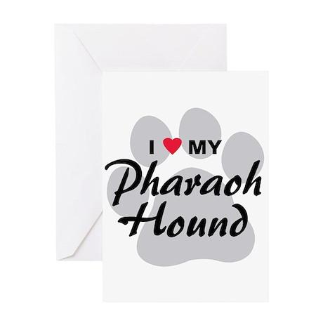 I Love My Pharaoh Hound Greeting Card