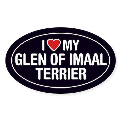 I Love My Glen of Imaal Terrier Oval Sticker/Decal