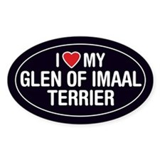 I Love My Glen of Imaal Terrier Oval Sticker/Decal