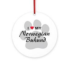 Love My Norwegian Buhund Ornament (Round)