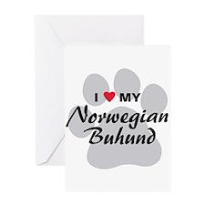 Love My Norwegian Buhund Greeting Card
