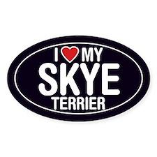 I Love My Skye Terrier Oval Sticker/Decal