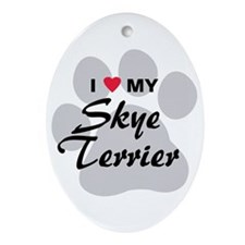 I Love My Skye Terrier Ornament (Oval)