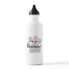 I Love My Otterhound Sports Water Bottle